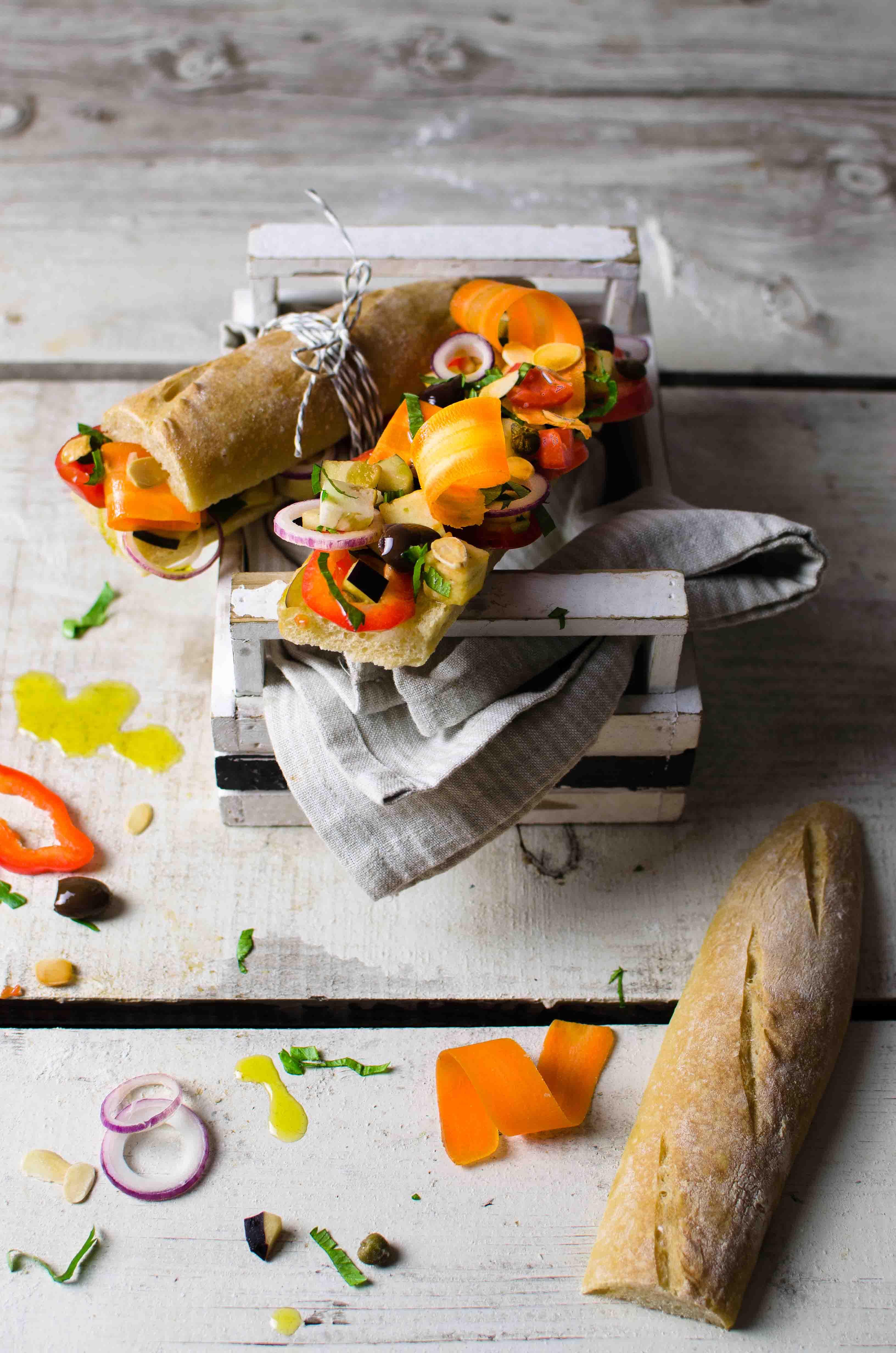 caponata-melanzane-fredda Baguette con caponata fredda di melanzane
