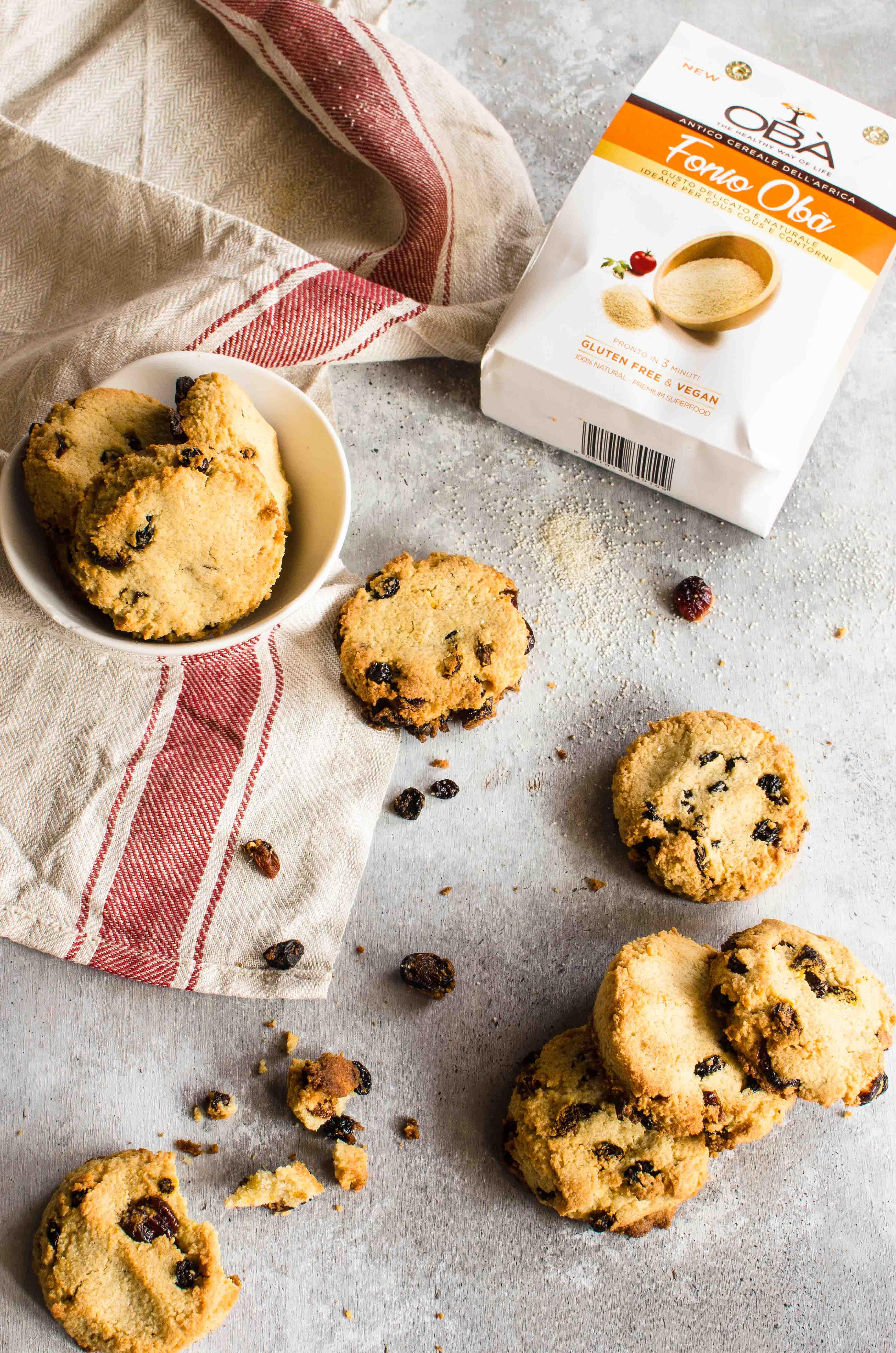cookies-fonio-frutti-rossi Cookies con fonio, mandorle e frutti rossi