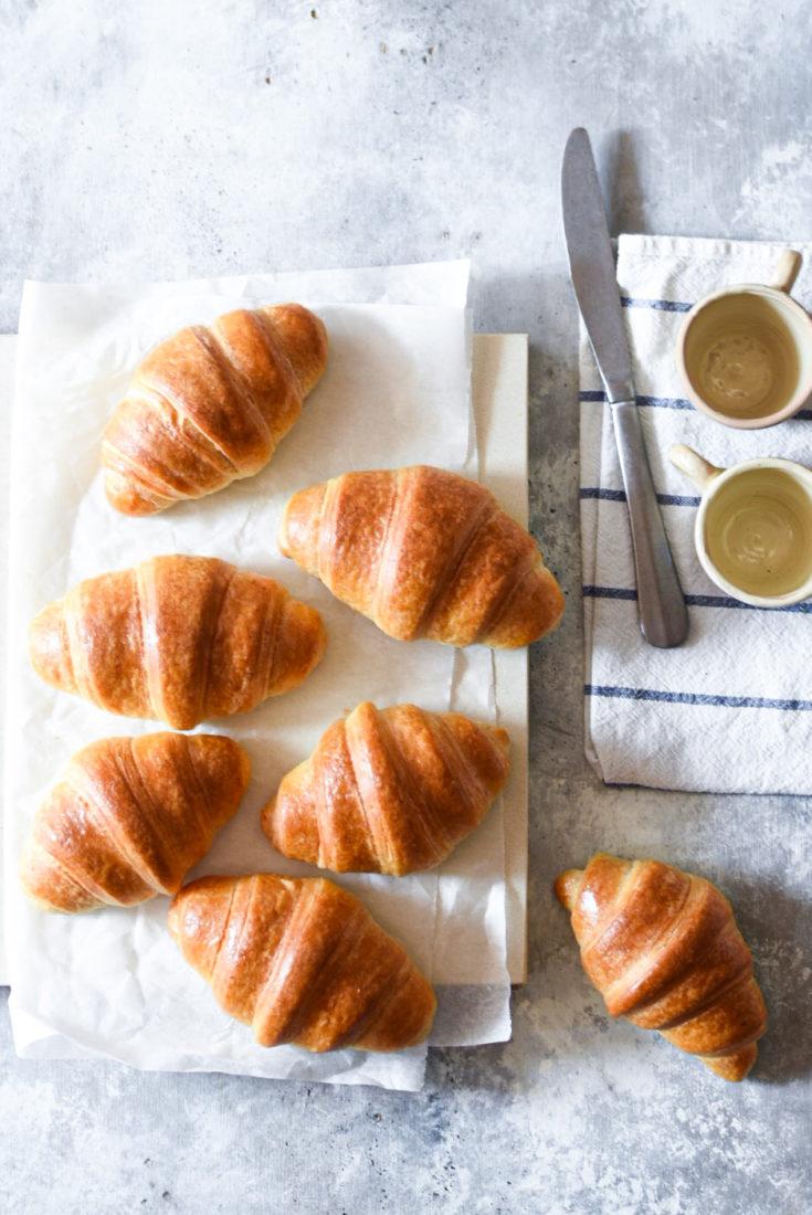 Croissant semplici sfogliati
